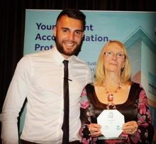 Brenda Receiving Award - Liverpool