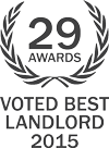 voted best landlord 2015 award crest